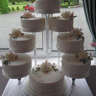 8 Tiered Wedding Cake.