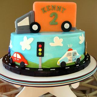 Vehicle cake for Kenny