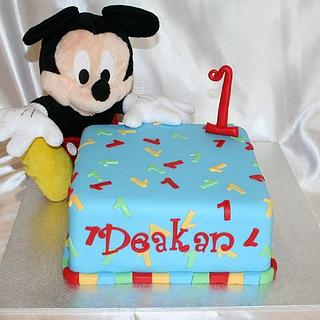 Mickey Mouse Smash / First Birthday Cake
