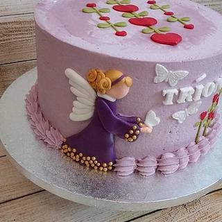 American folk art Angel cake