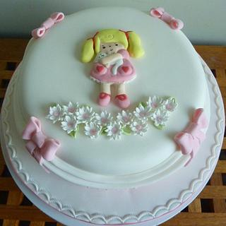 Bas relief Little girls cake