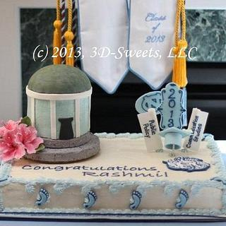 UNC Graduation - Cake by 3DSweets