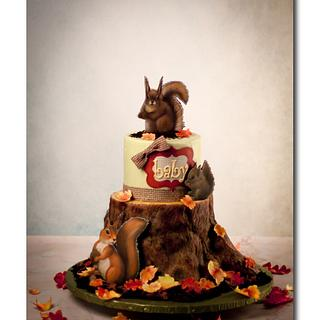 Woodland Creatures - Cake by Jan Dunlevy