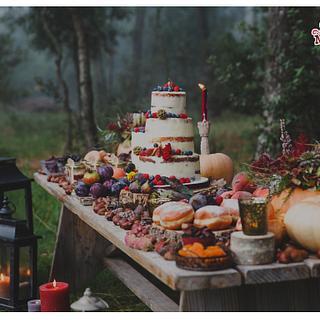 Boho Autumn Wedding Sweet Table