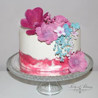 ... birthday cake with meringue cream ...
