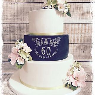 Simple cake for 60th birthday