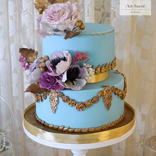 Baroque floral cake