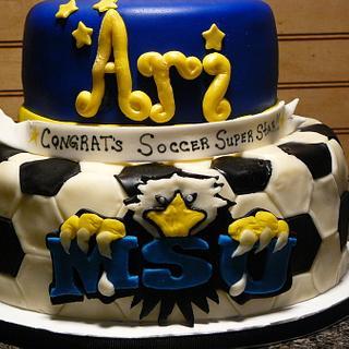 College Signing cake