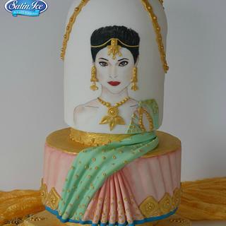 Ritika - Elegant Indian Fashion cake collaboration - Cake by Mila - Pure Cakes by Mila
