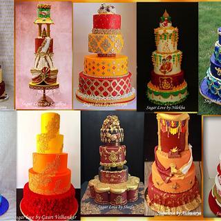 Indian wedding cake collabration