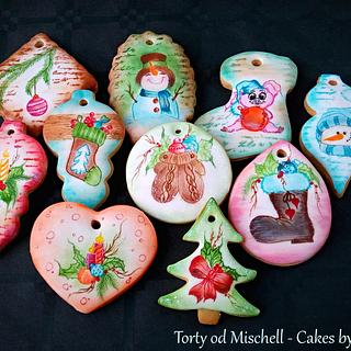 Painted christmas gingerbread