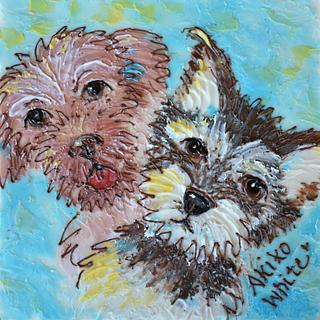 Chocolate Painting of Bruno and Turbo