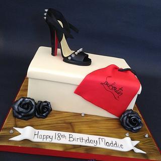 Louboutin Themed Shoe Box Cake