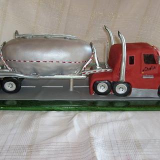 My First Semi Truck Cake