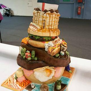 Cloudy with a Chance of Meatballs Cake