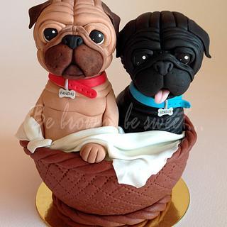 Pugs Cake topper