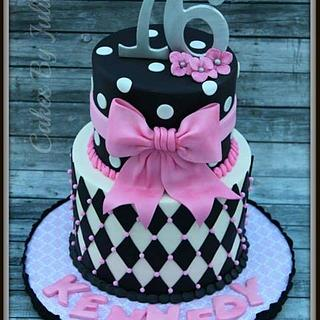 Sweet Sixteen Birthday Cake. - Cake by Cakes By Julie