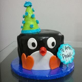 Penguin Cake - Cake by Arte Pastel Repostería y Pastelería