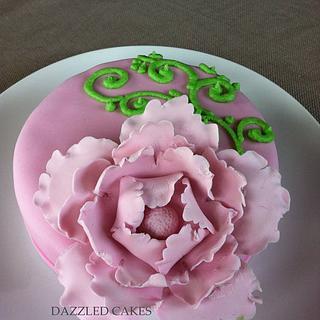 Peony Flower Cake