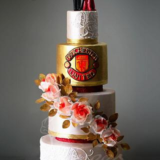 Manchester United Themed Wedding Cake My Purbaja B Chakraborty