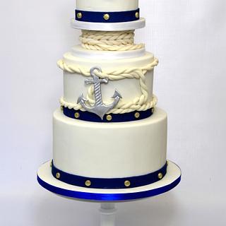 Nautical wedding cake - Cake by Cake Addict
