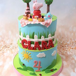 Peppa Picnic Cake - Cake by MileBian