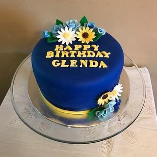 Blue Cake for Glenda