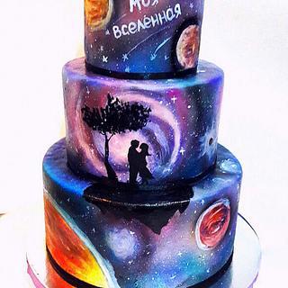 Space love - Cake by Julia Taran