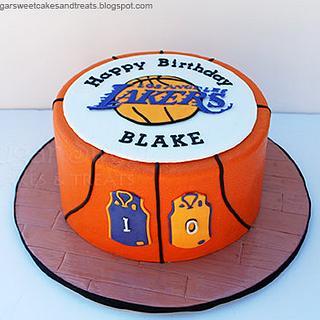 LA Lakers Basketball Cake - Cake by Angela, SugarSweetCakes&Treats