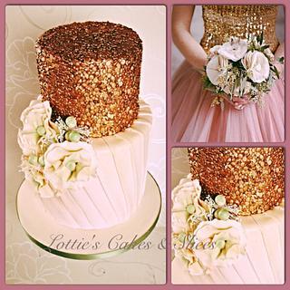 Fashion inspired Wedding Cake