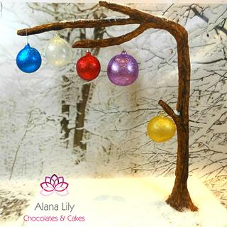 Blown Sugar Baubles - Day 10 Advent Calendar Collaboration  - Cake by Alana Lily Chocolates & Cakes