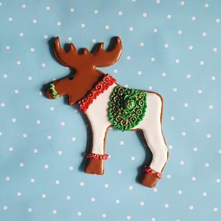 Christmas moose cookie