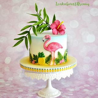 Tropical birthday cake. - Cake by LenkaSweetDreams