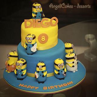 MINIONS CAKE - Cake by Angelica Galindo