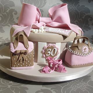 Hatbox, shoes and handbags