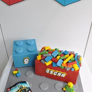 Lego Technic birthday cake & dessert  table  - Cake by Mrs Robinson's Cakes