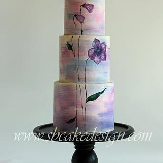 Painted Purple Flower