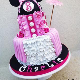 """Minnie mouse cake """"a la Marie-Antoinette"""""""