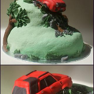 Land Rover off road cake