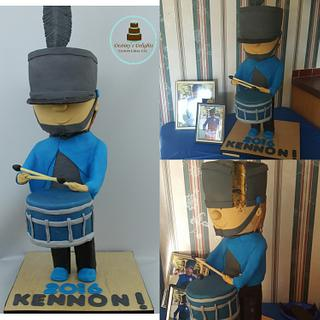 Marching band Drummer cake