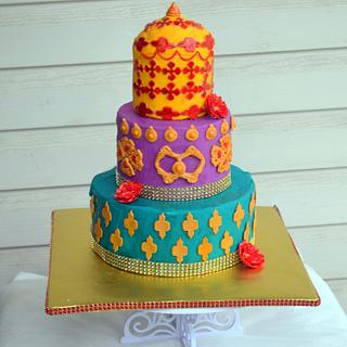 Moroccan theme wedding cake