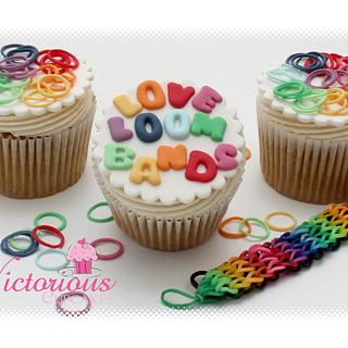 LOOM BAND CUPCAKES!! - Cake by Victorious Cupcakes