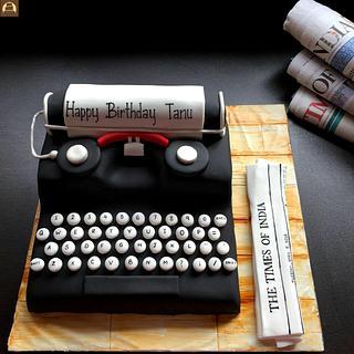 Typewriter Cake - Cake by Tricks 'n' Treats
