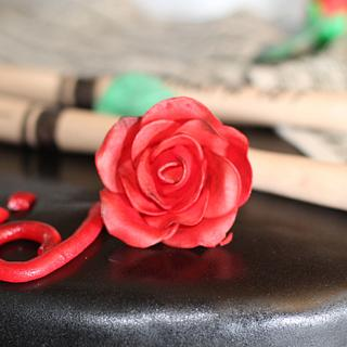 Music Sheets, Roses and Drumsticks