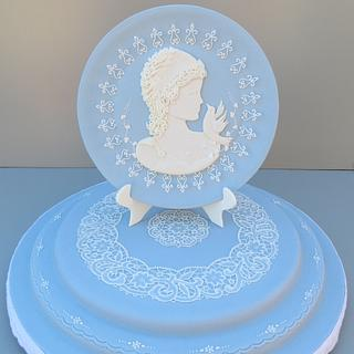 Wedgwood Blue Plate - Cake by Cakes by Beatriz