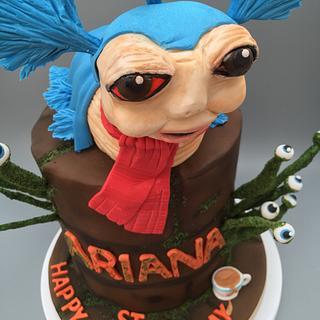Blue Worm Labryinth cake
