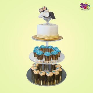 White Wedding Cake - Cake by Ankita Singhal