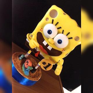 Spongebob Squarepants Defying Gravity