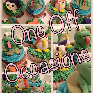 Animal cupcakes for a home zoo birthday party - Cake by OneOffOccasions