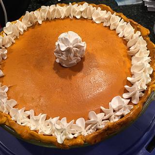 Pumpkin pie anyone? Oops cake